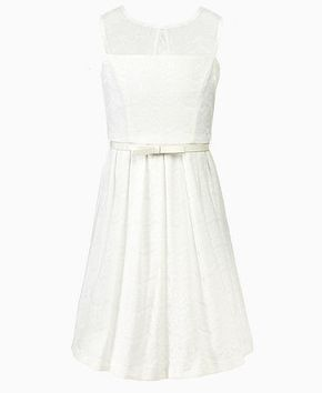 Simple white dress for First Communion