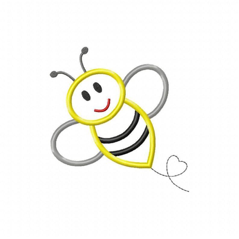Instant Download Bee 2 Machine Embroidery Applique Design