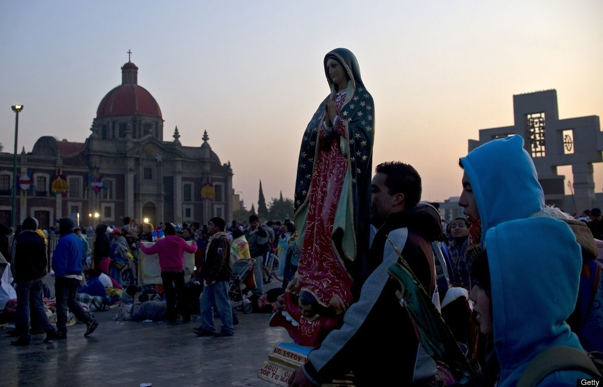 This is Our Lady of Guadalupe Basilica in Mexico City,Mexico.