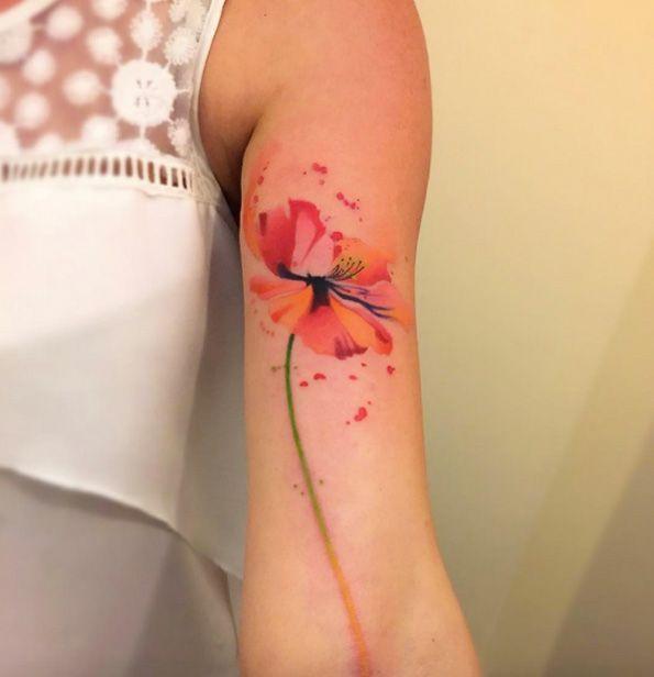 Resultat De Recherche D Images Pour Watercolor Tattoo Mohnblume Poppy Flower Tattoo