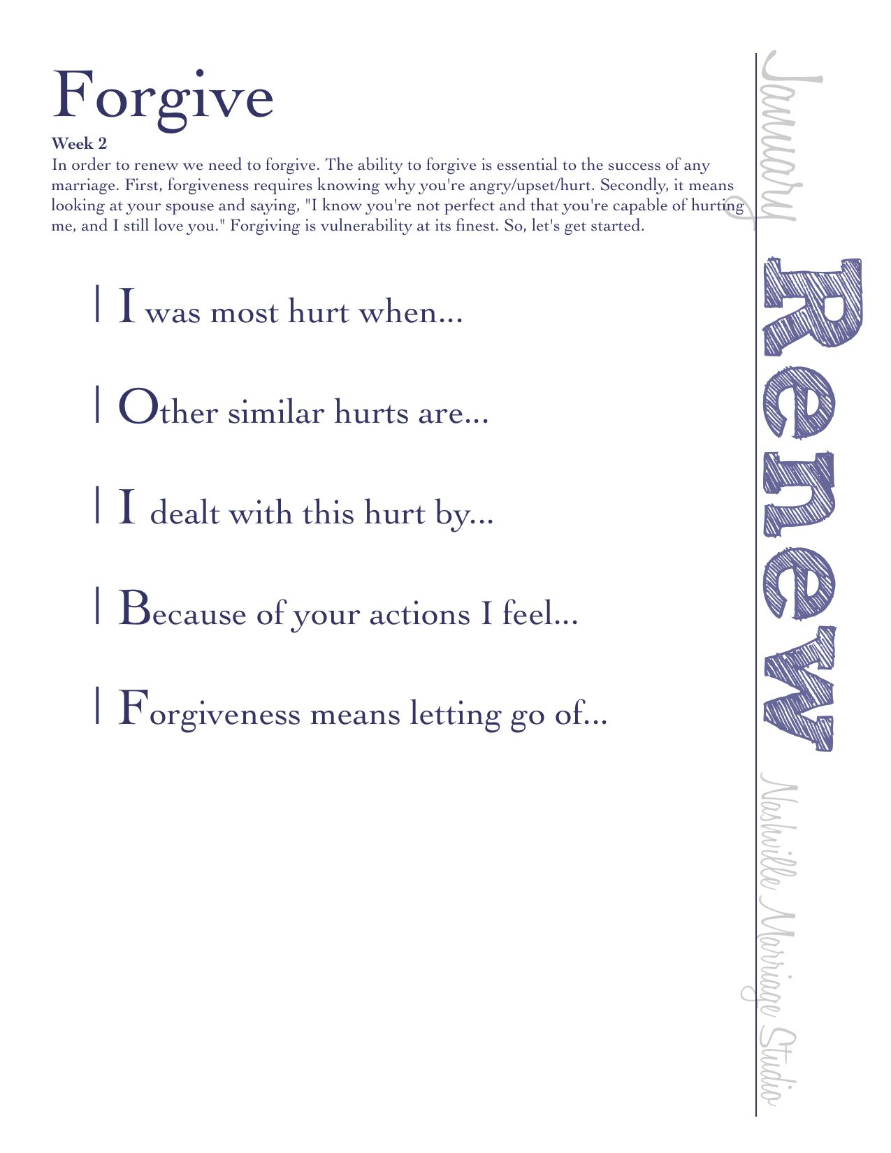 Worksheets Forgiveness Worksheets week 2 good advice pinterest 2