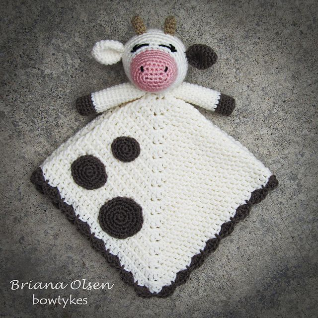 Ravelry: Baby Cow Lovey pattern by Briana Olsen | amiguis 1 ...