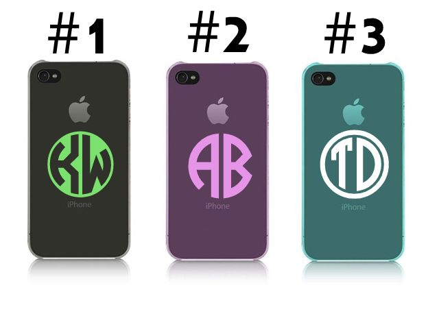 Vinyl Decals For Your Cell Phone Case Monogram Decals - Vinyl decals for phone cases