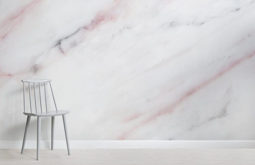 Soft Pastel Pink Marble Wallpaper Pink marble, Marble