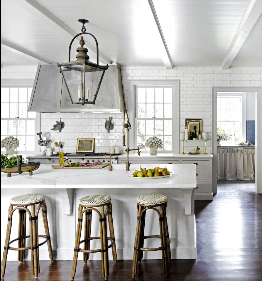 This is definitely a roomy kitchen. Floors are nice. | To Satisfy My ...