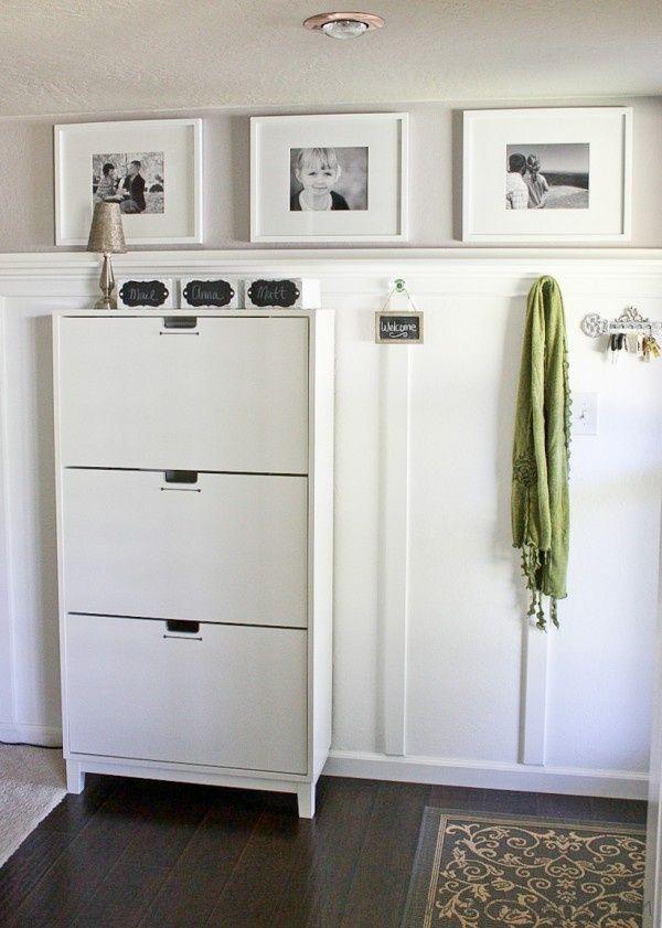 ikea stall shoe cabinet fyrir heimili pinterest recibidor hogar and casas. Black Bedroom Furniture Sets. Home Design Ideas