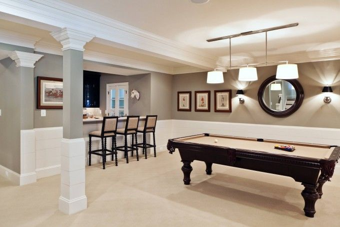 basement remodeling pictures with beige carpet and pool on best color for studio walls id=11499