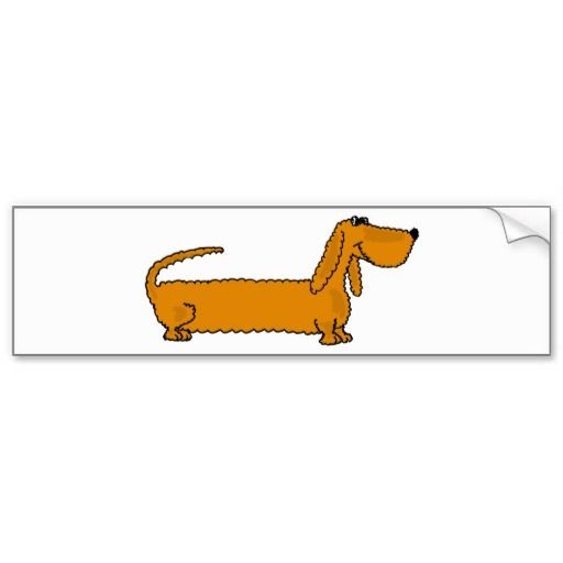 Funky dachshund bumper sticker dachshunds dogs funny bumperstickers and www zazzle