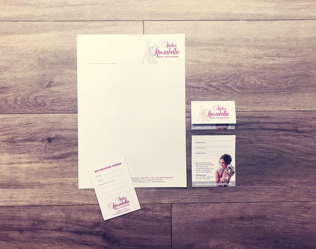 Briefpapier Visitenkarte Und Terminblock Grafikbüro