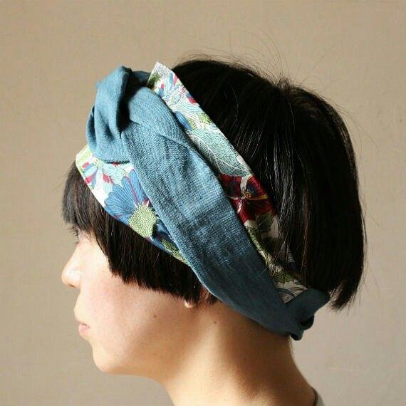 ワイヤーリボン付きヘアバンド 作り方説明書付き A4用紙 ヘア