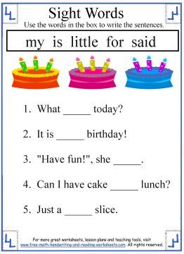 Worksheets Kindergarten Reading Worksheets Sight Words kindergarten reading worksheets sight words delibertad kindergarten