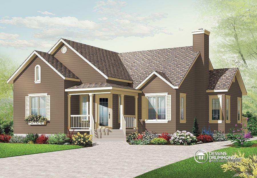 Détail du plan de Maison unifamiliale W3133 modèle maison