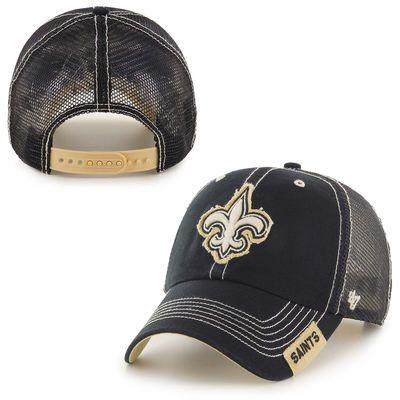 4e1834f6 Men's New Orleans Saints '47 Brand Black Turner Clean Up Adjustable ...