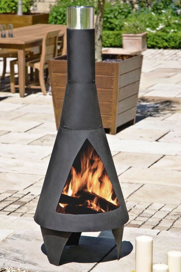 Awesome Cast Iron Chiminea Wood Burning Garden Fireplace Ideas Patio Furniture