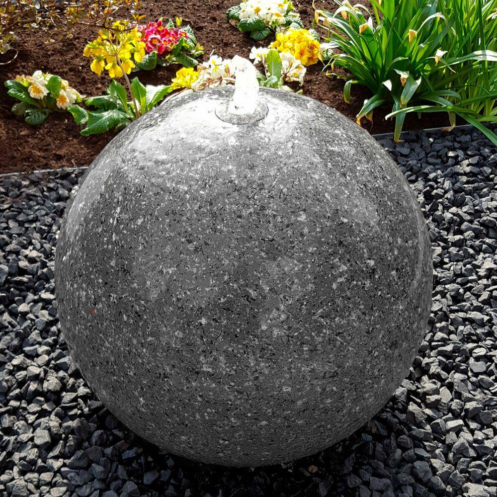 Brunnenkugel Edelstahl Brunnen Mit Granitlackierung Anthrazit Inkl Pumpe Led Ebay Brunnen Garten Brunnen Granit