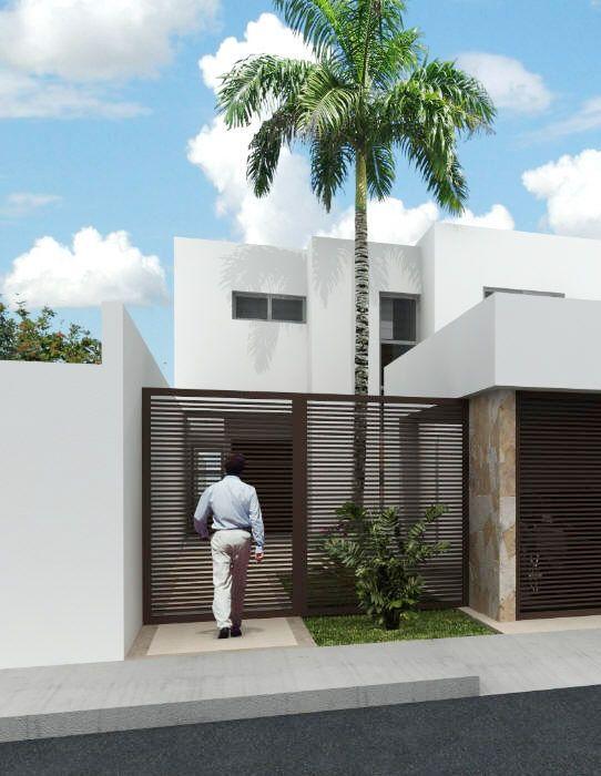 Fachadas de casas modernas con rejas buscar con google for Fachadas de casas modernas con negocio