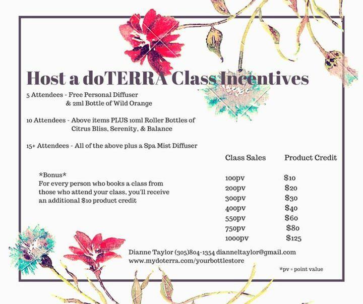 dōTERRA Class Host Incentives   Essential OIls   Pinterest ...