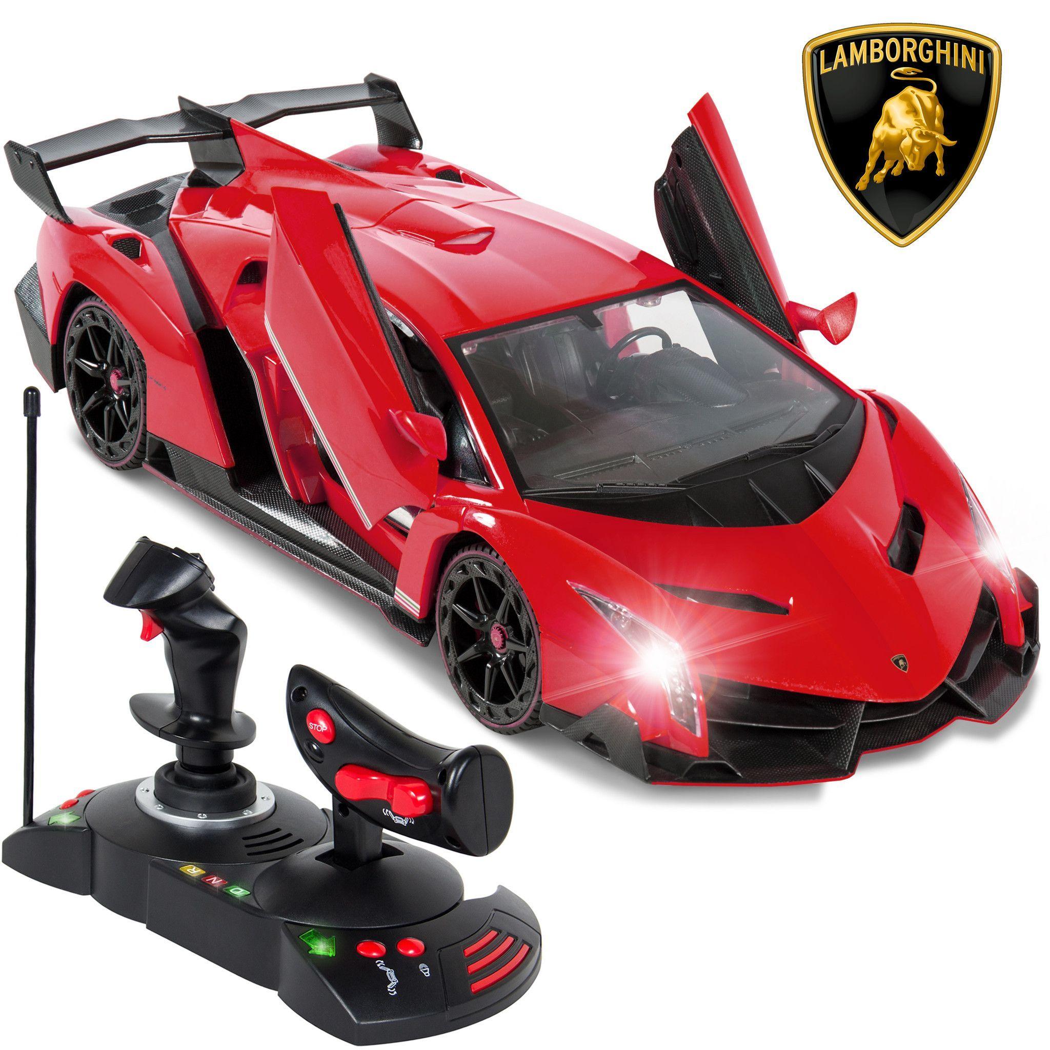Best Choice Products 1 14 Scale Rc Lamborghini Veneno Gravity Sensor Radio Remote Control Car Red