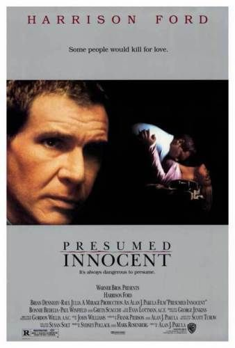 Presumed Innocent 1990 Presumed Innocent Movie Poster  Harrison Ford Scott Turow1Sht .