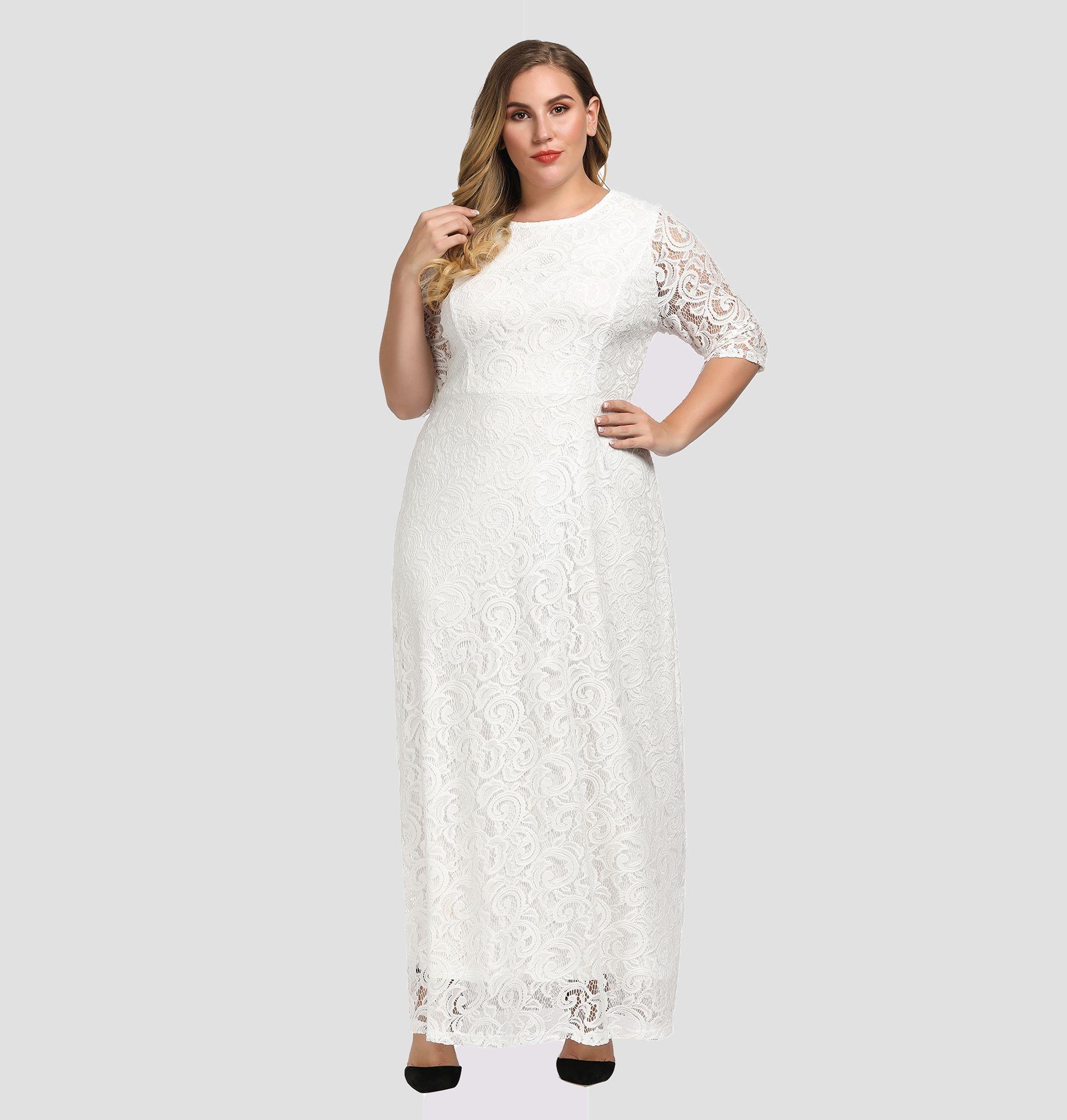 Women S Plus Size Lace Maxi Evening Dress Maxi Dress Evening Lace Dress Design Lace Maxi [ 2000 x 1906 Pixel ]