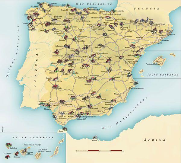 Paradores Of Spain Map Mapas Islas Baleares Spain