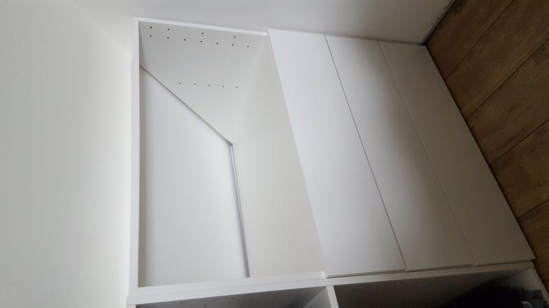 Caisson Sous Pente Spaceo Home Blanc H 100 X L 80 X P 60 Cm Dressing Sous Combles Caisson Blanc
