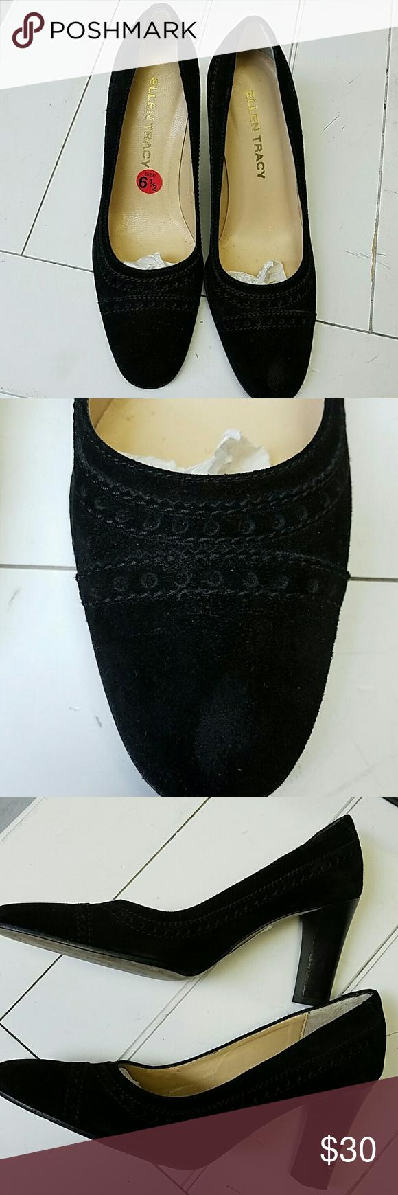 """Ellen Tracy Suede Pump. Black. Size 6.5 EUC Ellen Tracy Suede Pump. Black. Size 6.5 EUC 3"""" Heels. Ellen Tracy Shoes"""