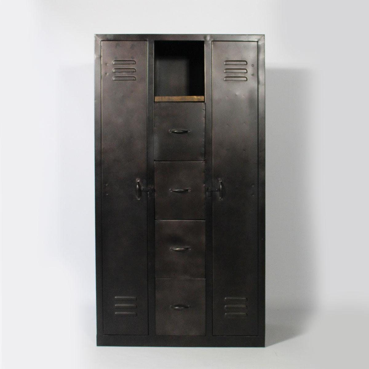 armoire la redoute achat armoire 2 portes en m tal made. Black Bedroom Furniture Sets. Home Design Ideas