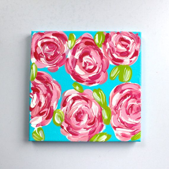 how to paint lilly pulitzer roses