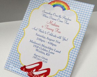 Wizard Of Oz Invitation Wording Google Search Just A Thought
