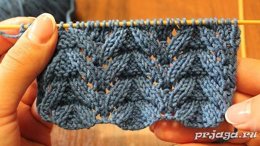 Bellissimo Punto Con Trecce E Trafori Puntos Crochet Crochet
