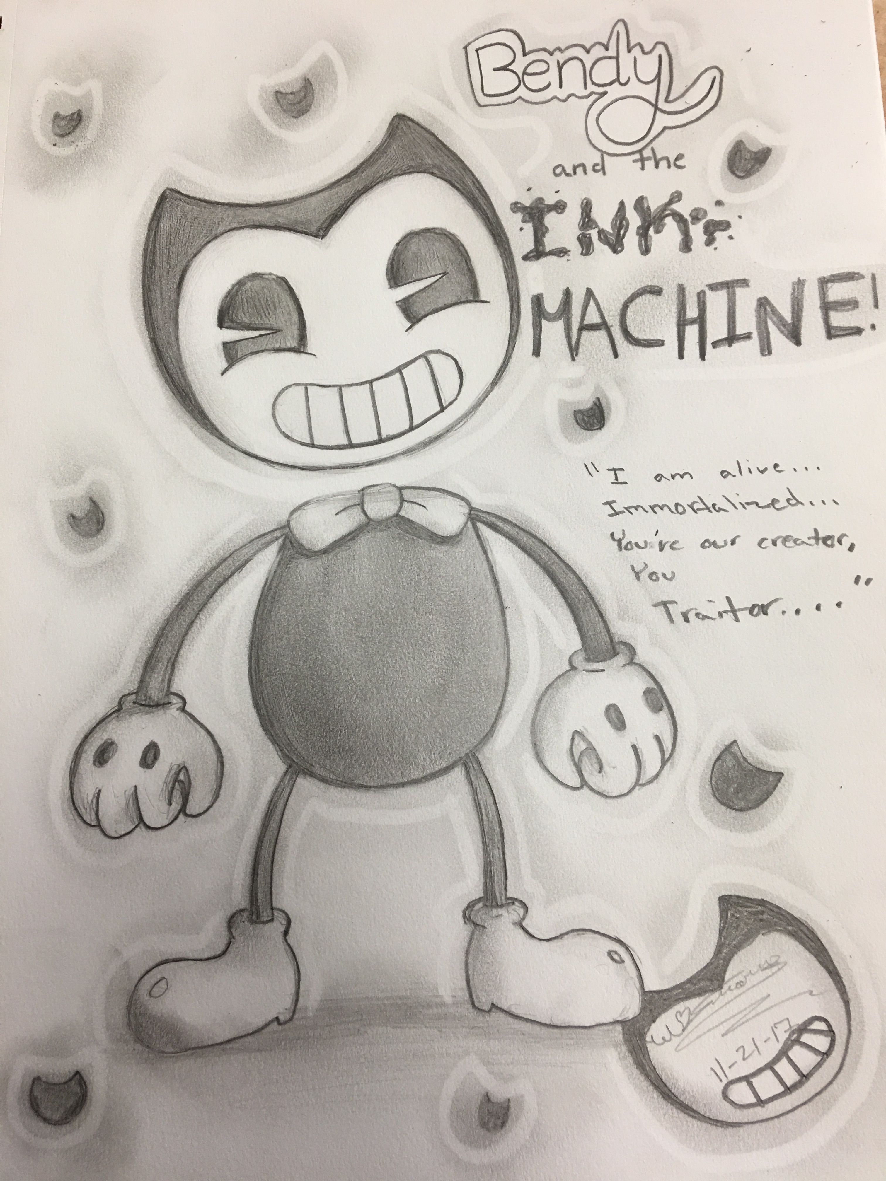 Bendy And The Ink Machine Doodle Bendy And The Ink Machine Doodles Ink