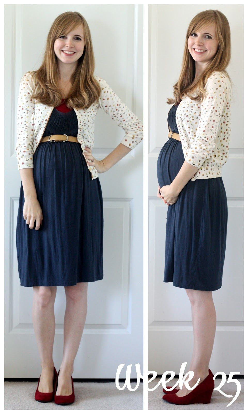 a54e7392d202d Everyday Reading: Awesome pregnancy outfit. Now I need a stretchy navy dress .