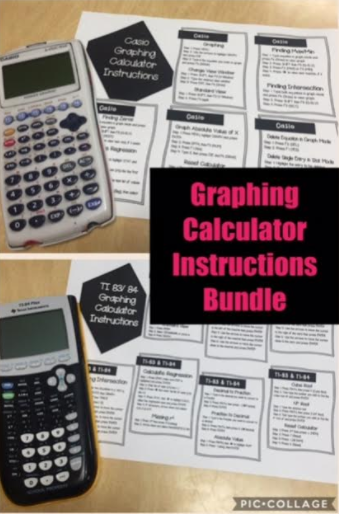 Graphing Calculator Instructions Bundle Ti And Casio