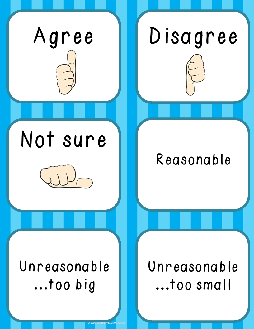 Math Classroom Response Cards: Free | - Math Explorations ...