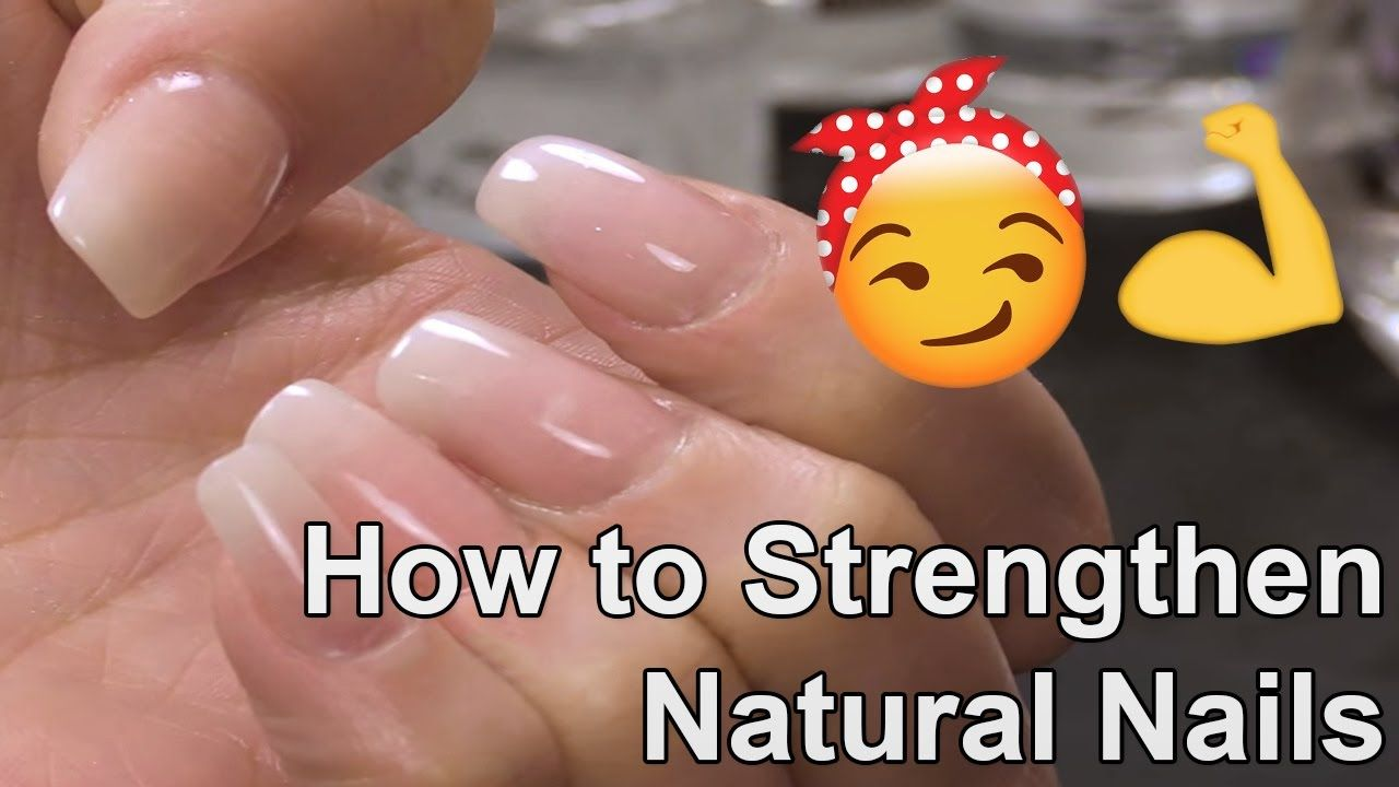 How To Strengthen Natural Nails With An Acrylic Overlay Youtube Overlay Nails Acrylic Nail Starter Kit Natural Nails