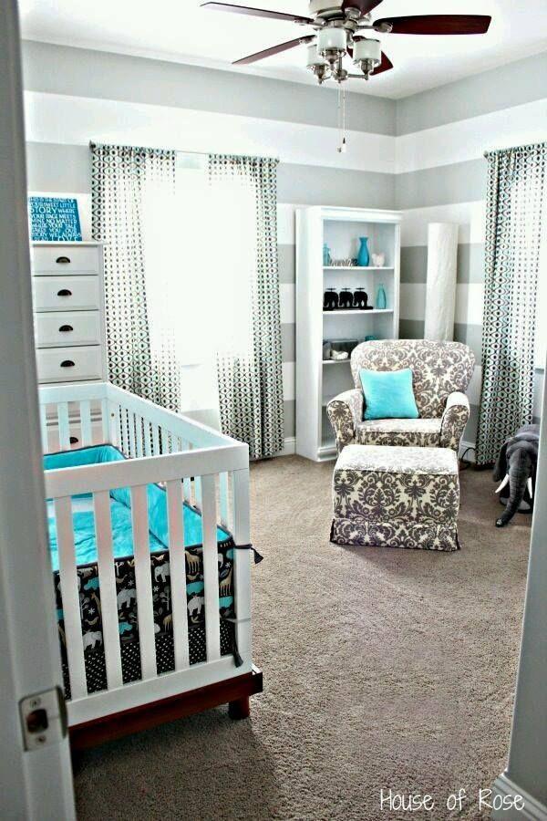 ideas para decoracin de para bebs con detalles en gris