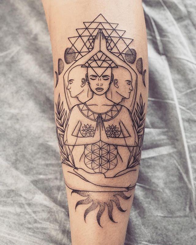 Fantastic Geometric Dotwork Spiritual Meditation Tattoo By T Radz Geometric Tattoo Goddess Tattoo Tattoos,Website Design Boca Raton