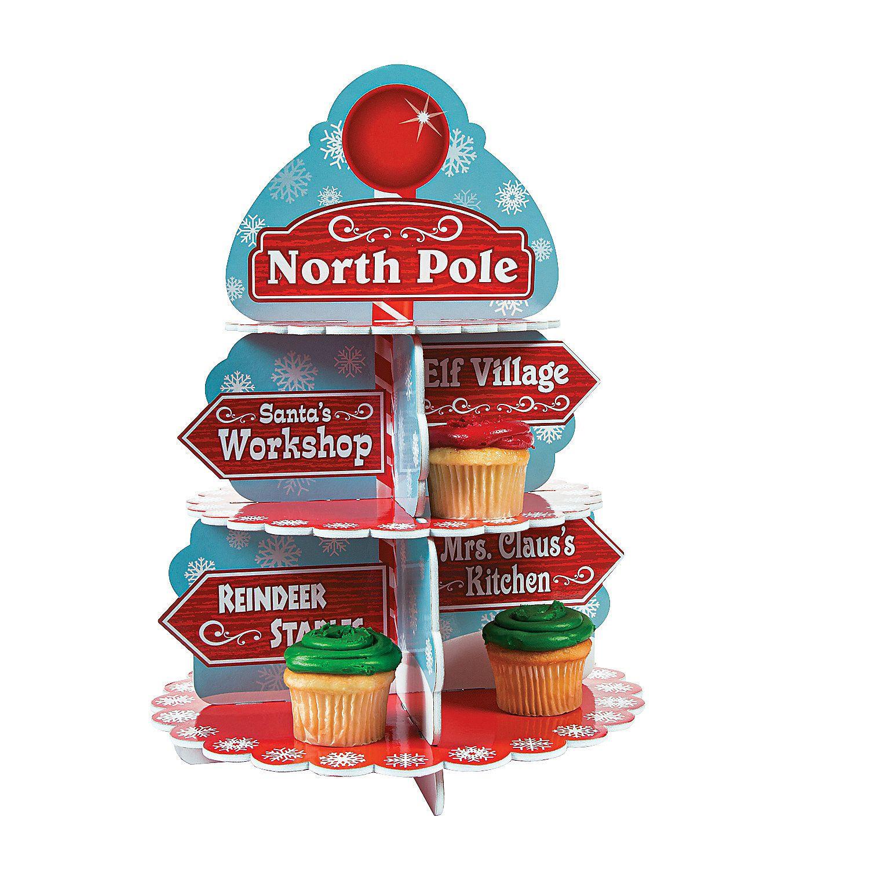 North Pole Cupcake Holder - OrientalTrading.com