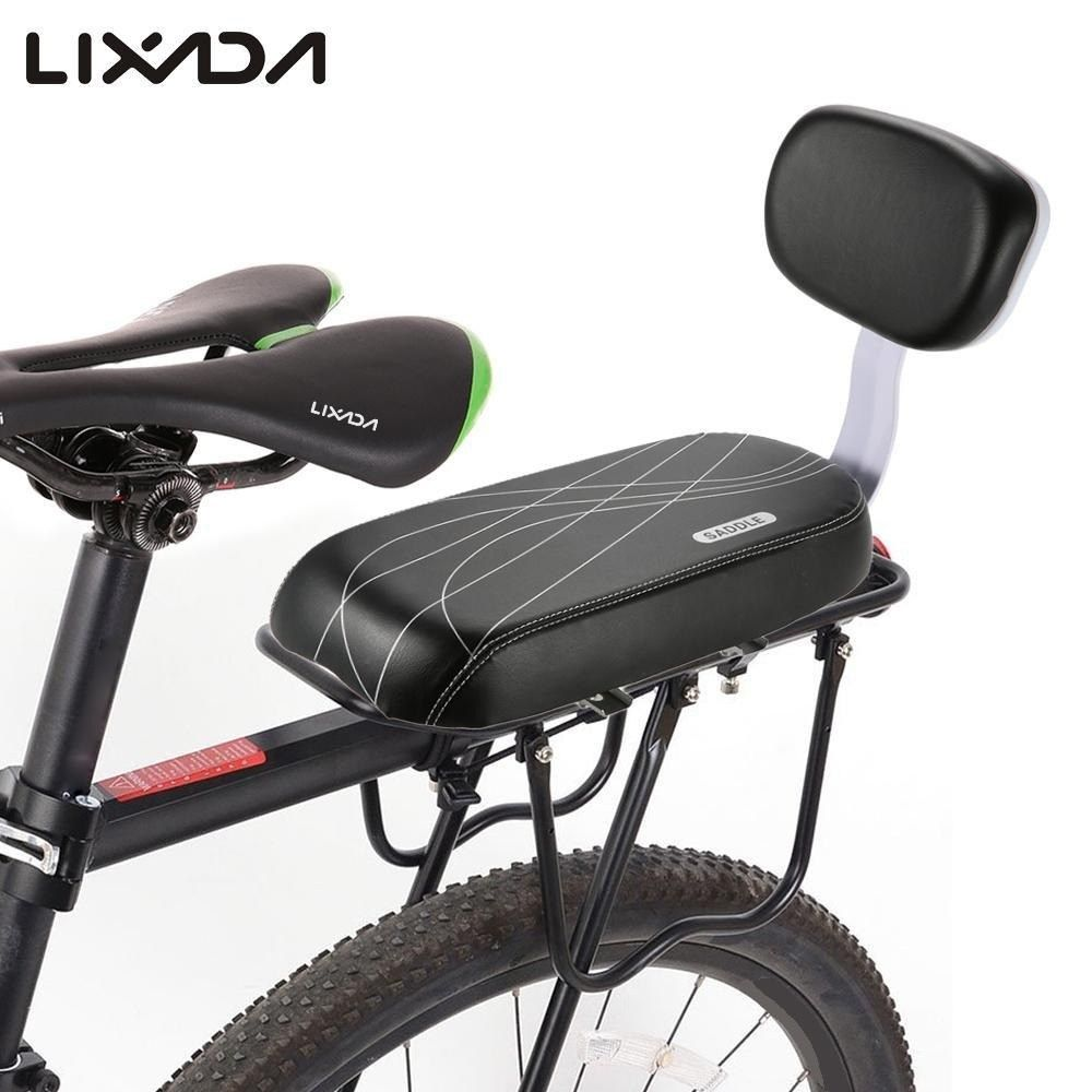 LIOOBO Bicycle Rear Seat Mountain Bike Saddle Bicycle Chair Carrier Cushion Soft Thick Bicycle Saddle