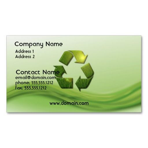 Recycle symbol business card eco green business card templates recycle symbol business card make your own business card with this great design all you need is to add your info to this template colourmoves