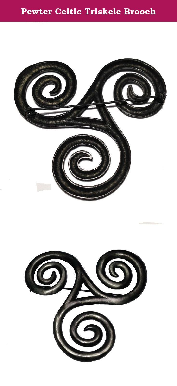 Pewter Celtic Triskele Brooch This Beautifully Crafted Triskele Pin