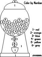 Gumball Machine Coloring Page Color By Number With Gumball