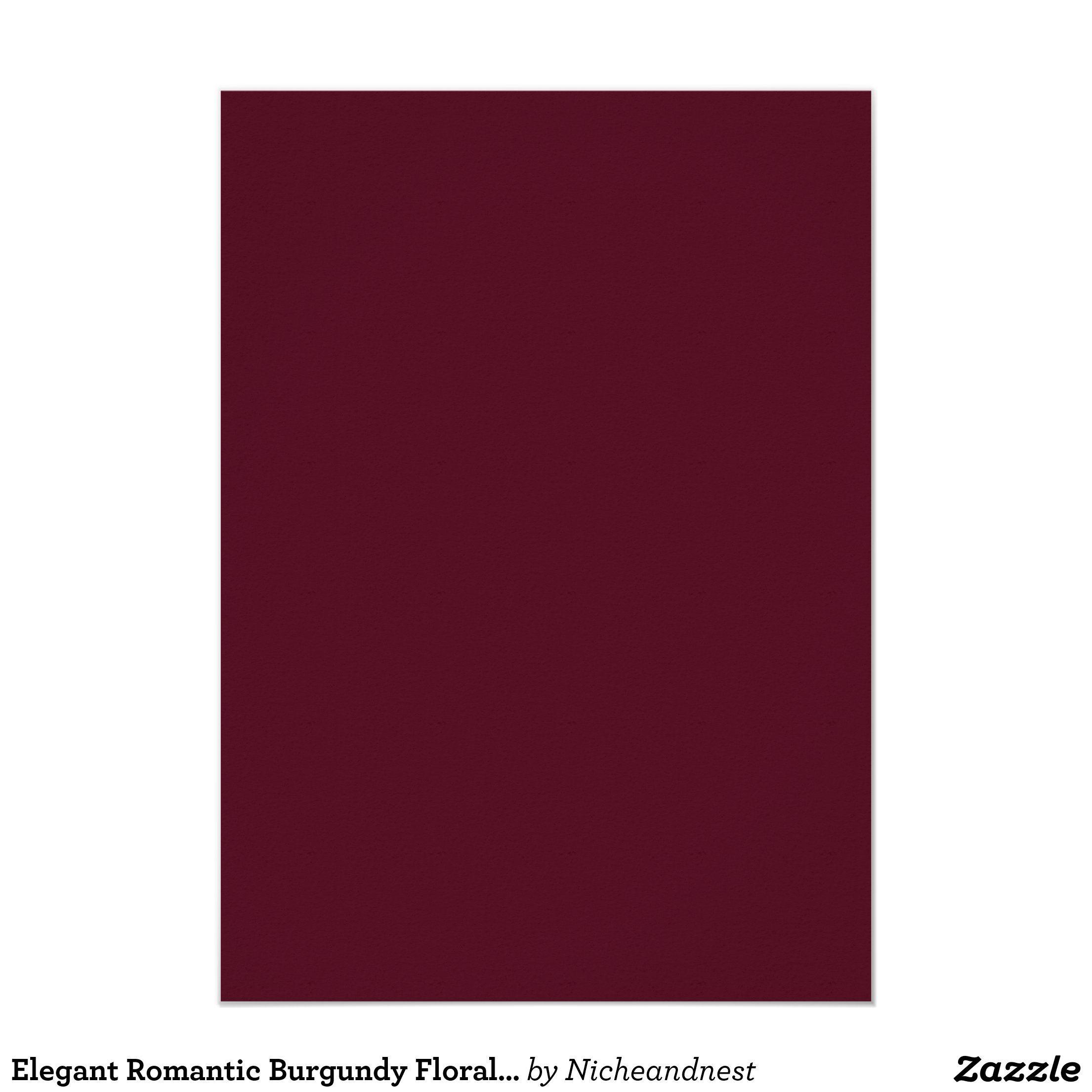 Elegant Romantic Burgundy Floral Wedding Invite Zazzle Com In 2020 Burgundy Paint Red Paint Colors Spring Wedding Invitations