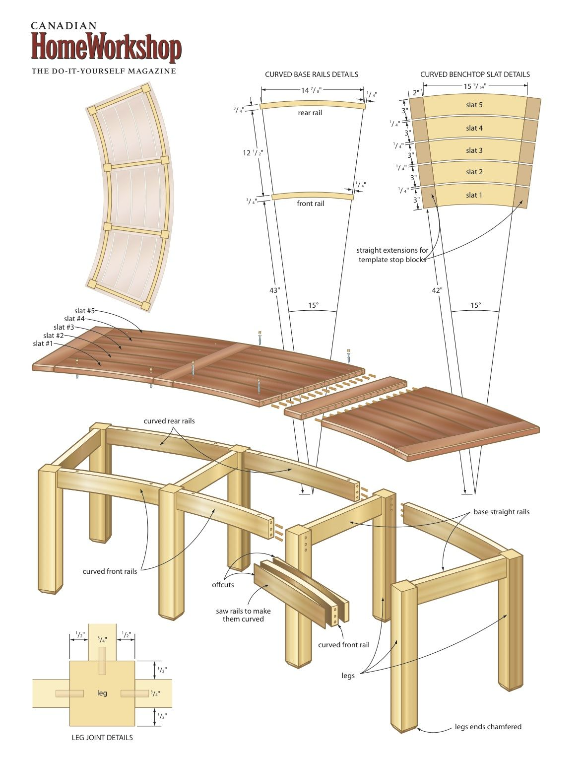 Best 25 curved bench ideas on pinterest diy e46 for Garden table designs wood