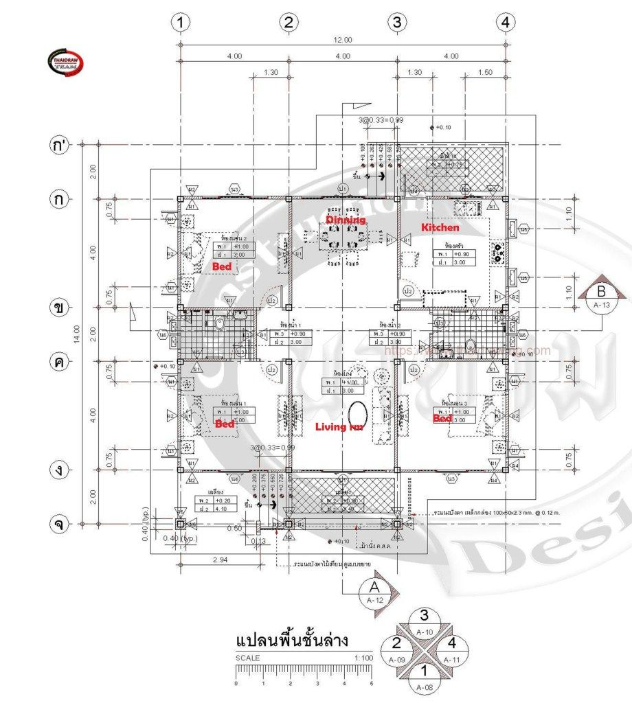 House Plans Idea 12x14 with 3 Bedrooms | House plans ...