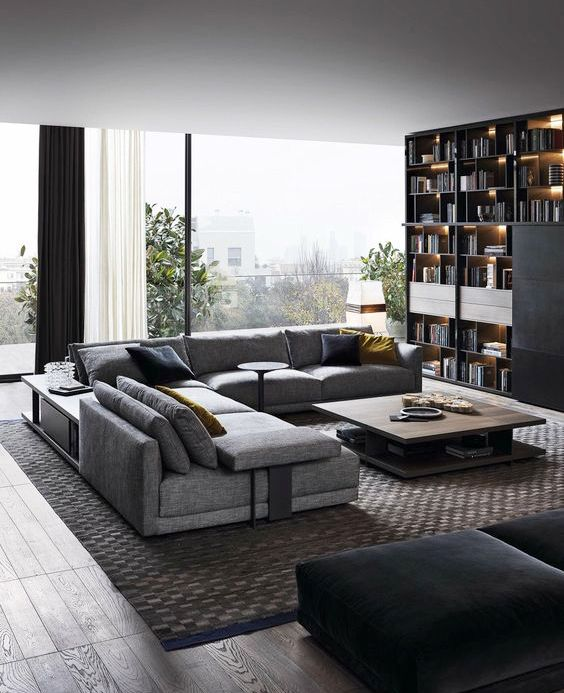 A Living Room For A Man Menstyle Modern Livingroom Fancy Modernlivingro Modern Apartment Living Room Apartment Living Room Design Living Room Decor Modern