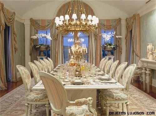 Comedores exclusivos de lujo muebles de estilos for Decoracion de salas clasicas modernas