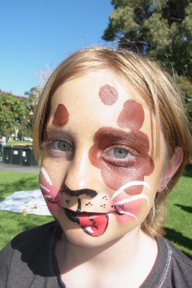 Face Painting Puppy Dog Face Paint Pinterest Puppy Party