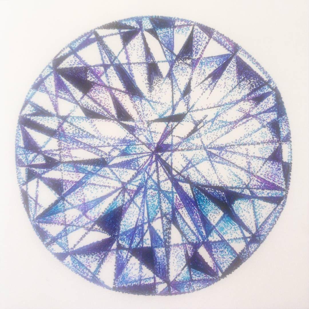 昨日のボールペンdoodle 「宝石」  It is drawn in color ballpoint pen #カラーボールペン#イラスト#イラストレーション#アート#ボールペン#ボールペン画#絵#落書き#ダイヤモンド#宝石#illust #Illustration  #ballpointpen #art #artwork #drawing #draw #doodle#picture#diamond
